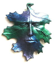 MYTHICAL LEAF MAN MASK WITH LIZARD METALLIC FINISH