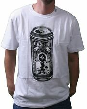 LRG Tall Boy Beer Can Men's Premium Fit White Graphic Tee NWT