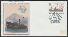 1974 UPU Centenary 3 1/2p Colorano 'silk FDC; Edinburgh Bureau FDI SHS
