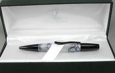Monteverde Intima Glacier Blue & White Swirl Ballpoint Pen In Box - New 50% OFF
