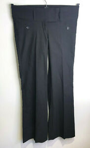 Vintage Y2K Jane Norman 90s black fitted boot cut low waist trousers 10 VGC