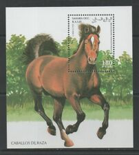 Thematic Stamps Animals - SAHARA 1995 HORSES M/S mint
