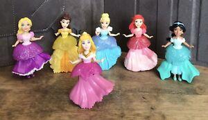 Set of 6 Disney Princess Rainbow Collection Dolls with Royal Clip Dresses Ariel