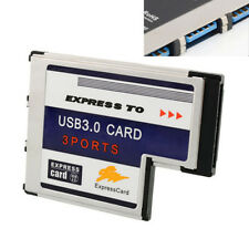 Express Card ExpressCard 54mm To 3 Port Hidden Inside Laptop USB 3.0 HUB Adapter
