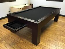 Metropolitan Pool Table w/ Dining Top Conversion & Storage Drawer FREE Shipping