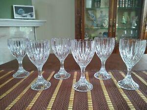"Mikasa Park Lane Crystal 6 1/2"" Wine Water Glasses - Set Of Six"
