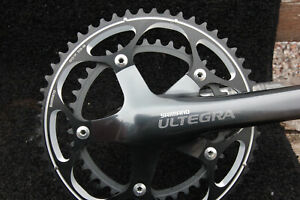 Shimano Ultegra Ice Grey FC-6601 53/39 Double Chainset 172.5 Arms 10 Speed, NEW