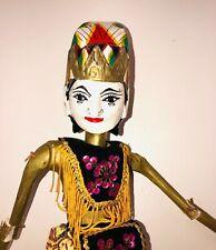 Vintage-Wayang Golek Stick Puppet-Wood-Shinta-Hindu Mythology-West Java-Indonesi