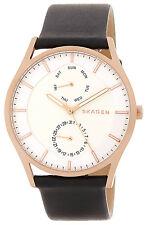 Skagen SKW6316 Holst White Dial Black Leather Strap Men's Watch