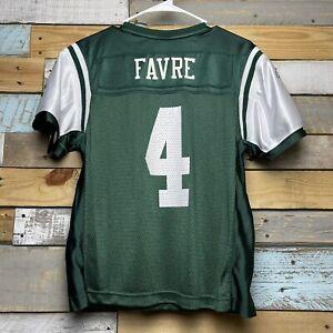 Vintage NFL Brett Favre #4 New York Jets Reebok On Field Jersey Women's Large L