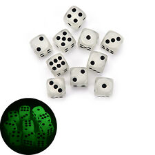 10pcs Noctilucent Dice 6 Side 14mm Night Light luminous Toy for EntertainmentJCA