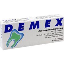 DEMEX Zahnschmerztabletten   20 st   PZN4346304