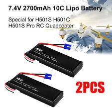 2PCS 7.4V 2700mAh Batería Lipo Para Hubsan Drone H501S-14 H501S H501C H501S Pro
