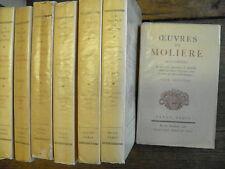 Oeuvres de Molière illustrées de gravures en 7 tomes  notes par Bertrand Guégan