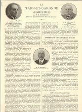 82 TARN ET GARONNE AGRICOLE ARTICLE PRESSE PAR DEMARTY VEYRIAC DELPEYROU ? 1932