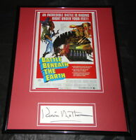 Kerwin Mathews Signed Framed 11x14 Photo Display Battle Beneath the Earth