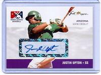 Justin Upton Just Minors 2006 Debut Autógrafo Carta Rookie! Limited #146/200