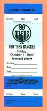 Wayne Gretzky October 1, 1999 Oilers Retirement Night Ticket Voucher Rare Piece