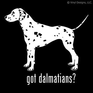 GOT DALMATIANS? DALMATIAN DOG DECAL - DALMATION STICKER