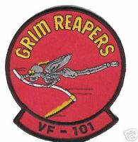 USN NAVY VF-101 GRIM REAPERS  CREW  TOMCAT  F-14 PATCH
