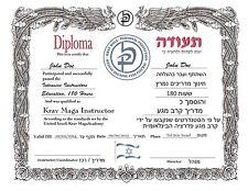 Krav Maga certificate 11x14