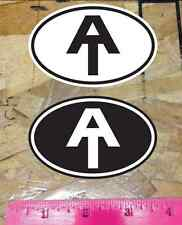 AT Appalachian Trail Hike Hiking sticker decals Black and White - 2 for 1