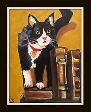 Wormy Curious Kitten : Daily Impressionist Original Oil Painting by Terry  Wylde