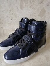 ANDROID HOMME  Propulsion Hi Snake PU Navy/Black Trainers UK size 7