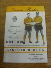 circa 1980 Rugby League: Castleford - Gary Stephens & Phil Johnson Benefit Year
