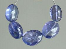Natural Purple Blue Tanzanite Smooth Plain Nugget Gemstone Beads