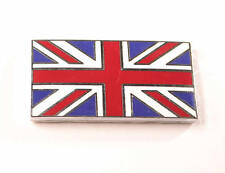 PAIR Union Jack Enamel Badge Self Adhesive Mini Cooper Austin Morris Universal