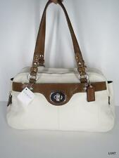NWT $428 COACH Ivory Brown Penelope Leather Purse Shoulder Bag Tote Handbag NEW