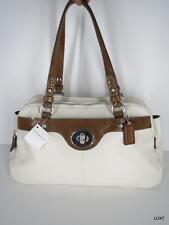 NWT $428 COACH Ivory Brown Penelope Leather Purse Shoulder Bag Tote Handbag NEW