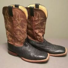 Justin Boots Mens Brown Full Quill Ostrich Leather  Cowboy Boots Size 11.5  EE