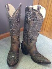 Sterling River women's cowboy boots SR240 size 9 1/2 brown/ black