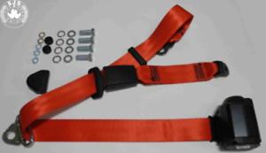 Dreipunkt Automatic Seat Belt Rear for Renault Super 5, R11, R14, R25, Clio, Red