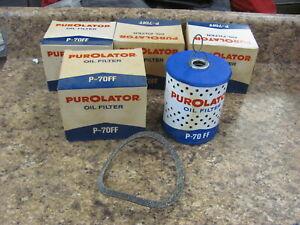Lot of 4 NEW 77-88 BMW Purolator P-70FF oil Filters CH2965 535 636
