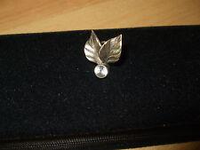 Schöner Damen Ring Silberring Zwei Blätter mit glitzernden Fianit Gr. 15,6