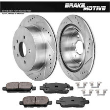 Rear Drilled & Slotted Brake Rotors And Ceramic Pads For Murano Quest FX35 FX45