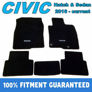 PREMIUM Prestige Carpet Floor Mats for Honda CIVIC 2016-2021 Customized Fit