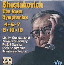 Shostakovich The Great Symphonies 4 5 7 8 10 15 CD NEW Ivanov Mravinsky