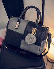 Leder Damenhandtasche Shopper Handtasche Beutel Schultertasche Umhängetasche