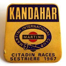 Spilla Sestriere 1967 Citadin Races Kandahar Martini International Club