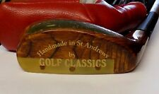 Left Handed Hand Made St Andrews The Duke Wooden Mallet Putter + Head Cover