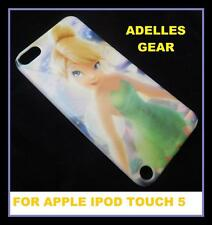 IPOD TOUCH 5,5TH GEN -TINKERBELL -HARD BACK CASE COVER- SCREEN PRO & CLOTH