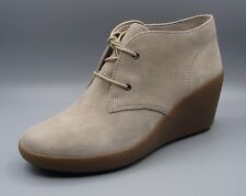"""NICE MELODY""Clark's Women/Ladies Grey Suede Ankle Boots size 7 D."