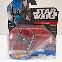 Star Wars Hot Wheels Force Awakens TIE FIGHTER (White Shields) Diecast Ship Toy