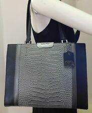 "Calvin Klein Lola Croc Embossed Shoulder Bag Handbag Purse Tote ""NWT"""