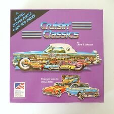 GREAT AMERICAN PUZZLE FACTORY Cruisin' Classics 500 Piece Jigsaw Puzzle USA Made