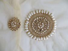 2pcs/set Sew Su Perla Motivo a Perline Matrimonio Applique abito fiori di patch